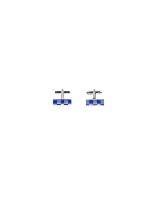 Manchetknopen van Simon Carter chequer blauw